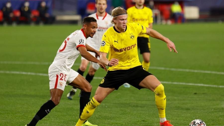 Sevilla e Borussia Dortmund jogam pela Liga dos Campeões - Daniel Gonzalez Acuna/picture alliance via Getty Images