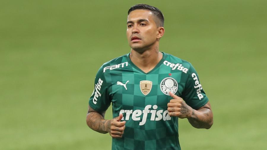 Dudu voltou a vestir a camisa do Palmeiras ao reestrear na vitória por 3 a 2 sobre o Santos, pelo Brasileirão - Marcello Zambrana/Marcello Zambrana/AGIF
