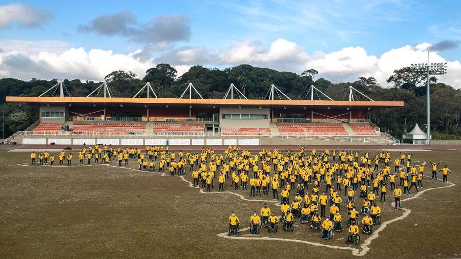 Delegação de atletas paralímpicos que representam o Brasil em Tóquio - Ale Cabral/CPB