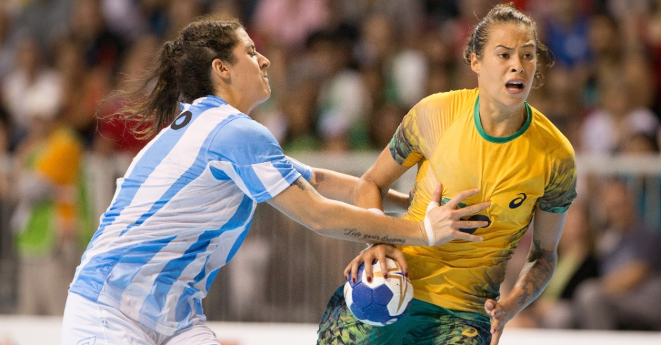 Brasil disputa a final do handebol contra a Argentina, no Pan de Toronto