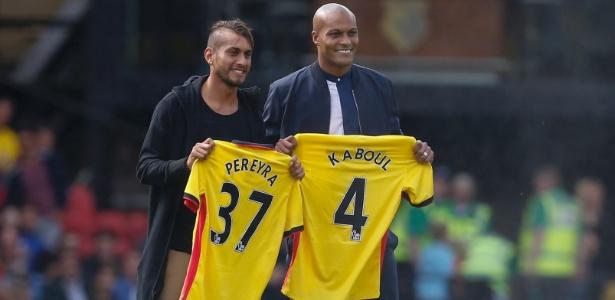 Roberto Pereyra e Younes Kaboul foram apresentados como novos jogadores do Watford - AFP-PHOTO