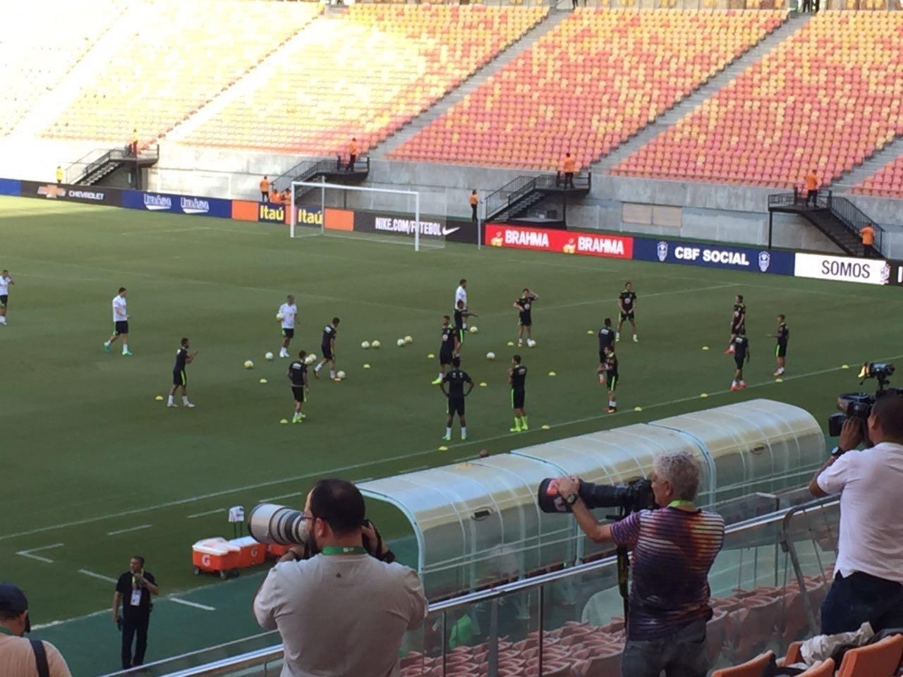 Seleção brasileira treina em Manaus neste sábado