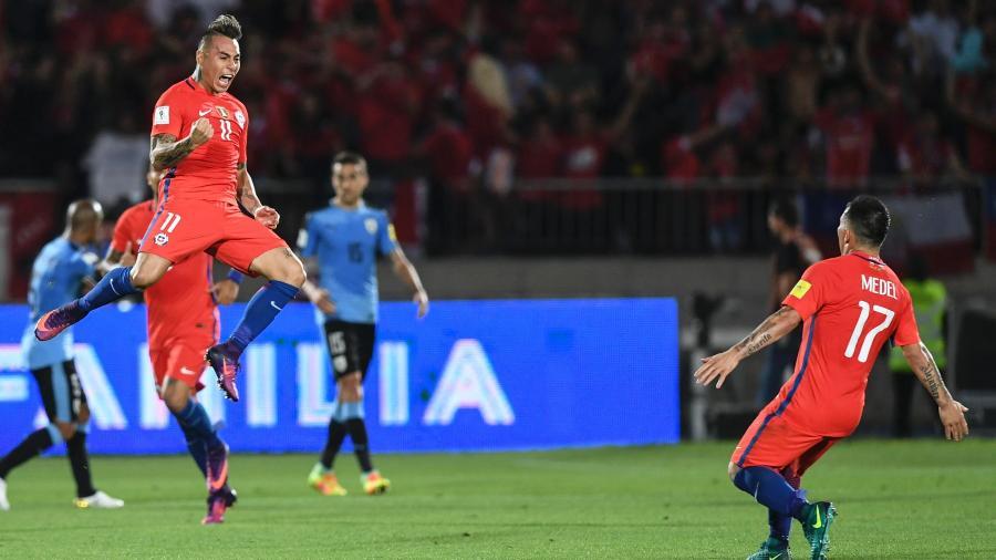 Eduardo Vargas, atacante chileno, agrada ao técnico Jorge Sampaoli no Atlético-MG - Martin BERNETTI/ AFP