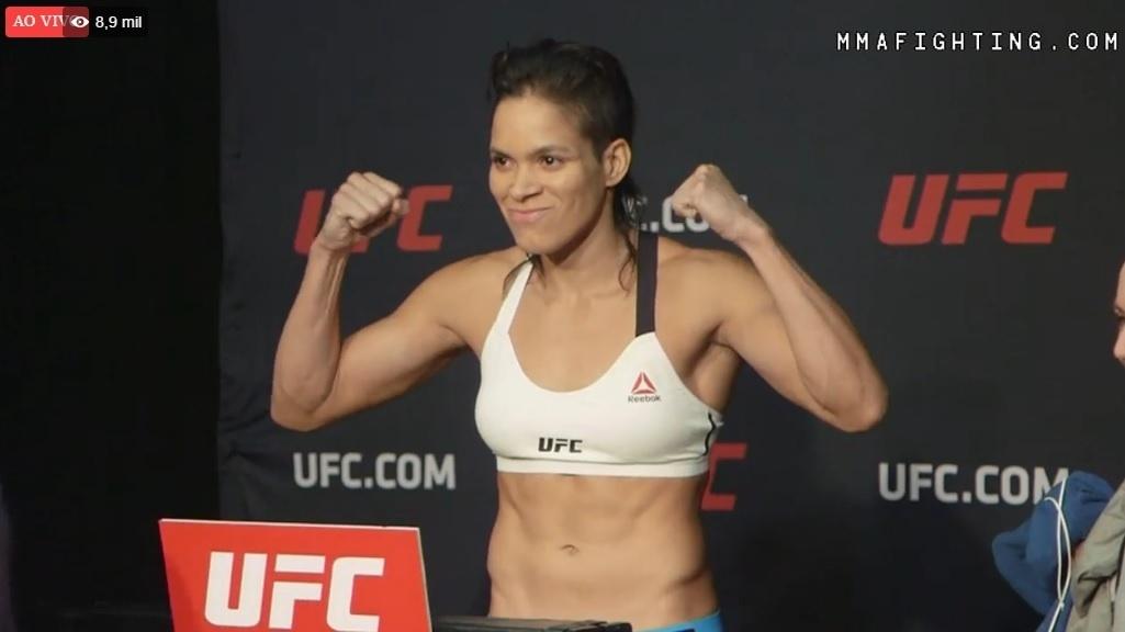 Amanda Nunes sobe na balança pro UFC 207