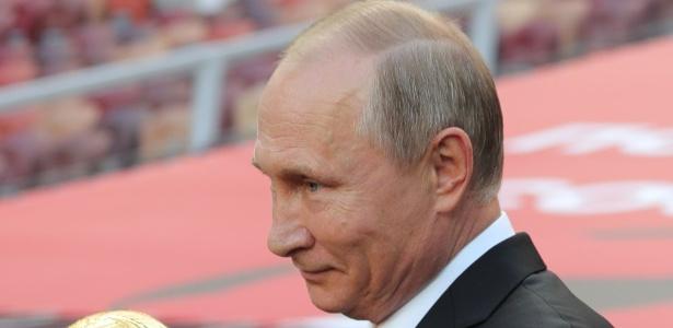 Vladimir Putin é o presidente da Rússia, sede da Copa do Mundo de 2018 - Michael Klimentyev/AFP