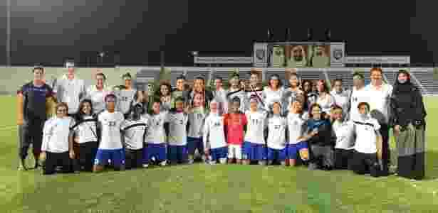 Time de futebol feminino do Abu Dhabi Country Club - Arquivo pessoal - Arquivo pessoal