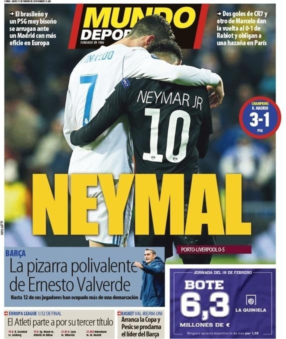 Capa Mundo Deportivo (15/2)