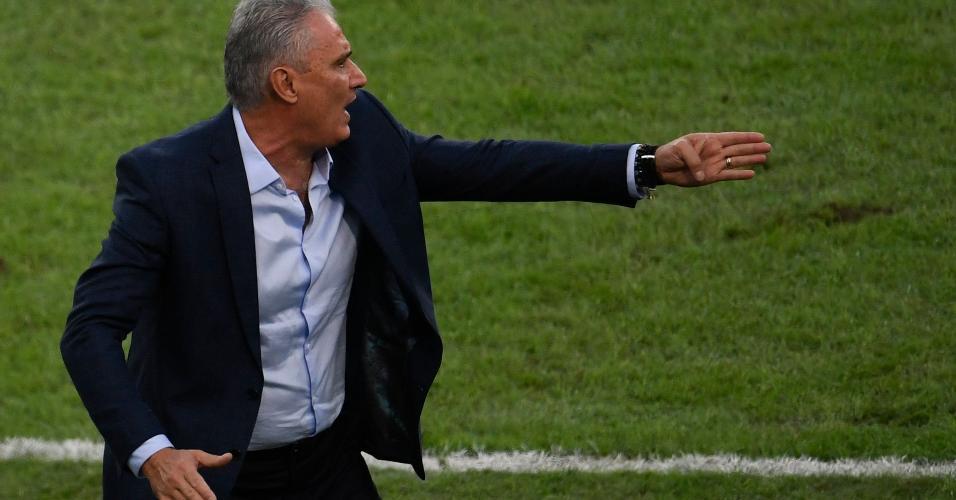 Tite na final da Copa América entre Brasil e Peru