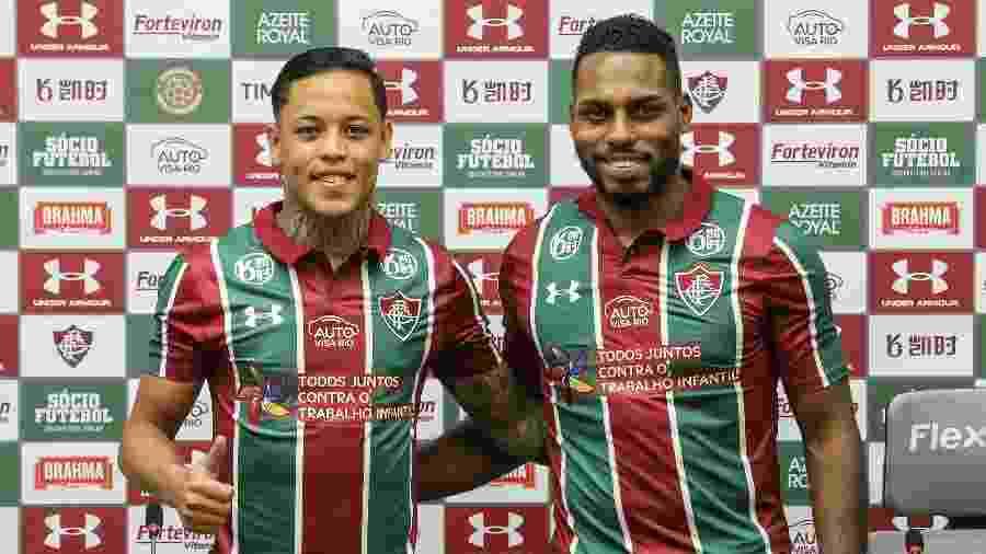 Orinho e Luccas Claro foram apresentados no Fluminense - Lucas Merçon/Fluminense FC
