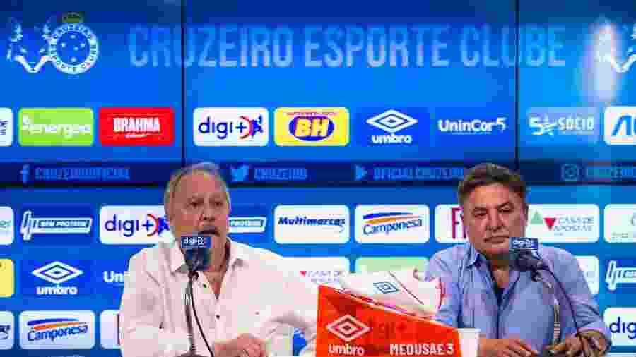 Presidente Wagner Pires questionou recursos que Perrella prometeu e não conseguiu levar para o Cruzeiro - Bruno Haddad/Cruzeiro