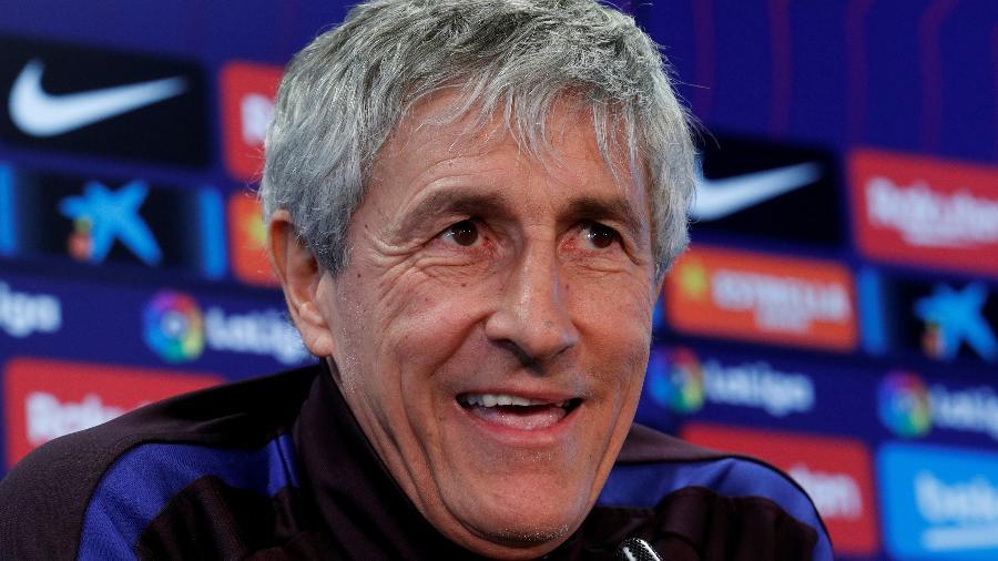 Quique Setién, técnico do Barcelona, tem cargo ameaçado e site brincou com busca por emprego - Albert Gea/Reuters