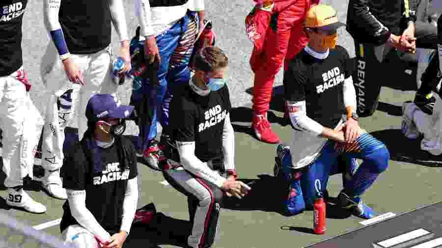 GP da Áustria de Fórmula 1: ato contra racismo gerou polêmicas - Peter Fox/Getty Images