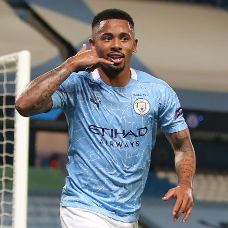 Gabriel Jesus comemora gol do Manchester City - Nick Potts / POOL / AFP