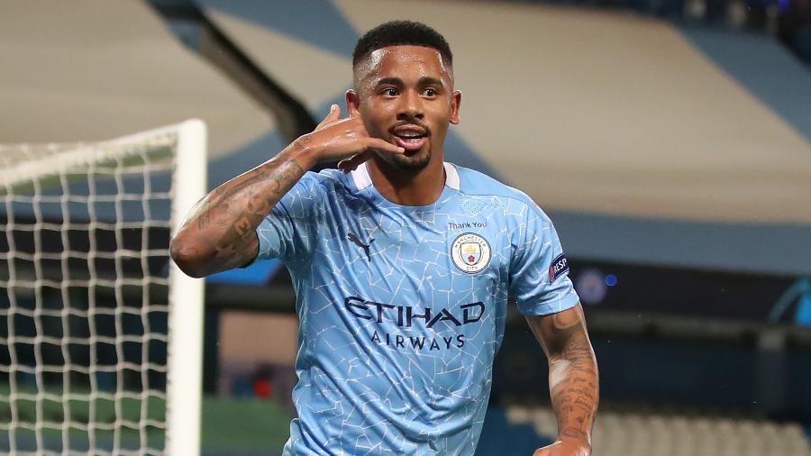 Gabriel Jesus marcou 2 gols na vitória do Manchester City sobre o Wolverhampton - Nick Potts / POOL / AFP