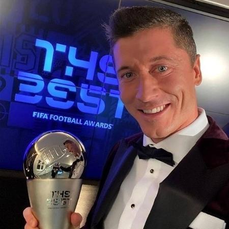 Lewandowski levou o prêmio de melhor do mundo - Reprodução/Instagram