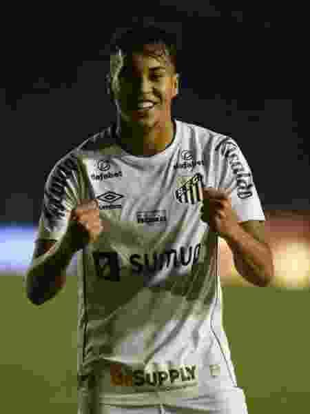 Kaio Jorge comemora gol pelo Santos - Ivan Storti - Ivan Storti