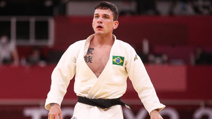 Judoca brasileiro Daniel Cargnin em ação em Tóquio - Gaspar Nóbrega/COB