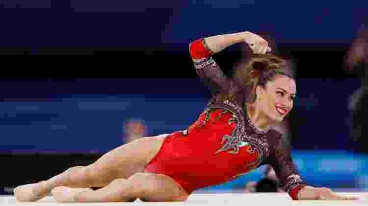 Vanessa Ferrari, da Itália, medalha de prata no solo - Adam Pretty/Getty Images - Adam Pretty/Getty Images