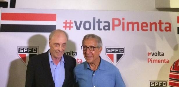Pimenta e Abilio Diniz no lançamento da candidatura do primeiro à presidência do SP