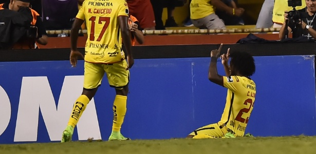 Barcelona de Guayaquil durante jogo contra o Botafogo na fase de grupos