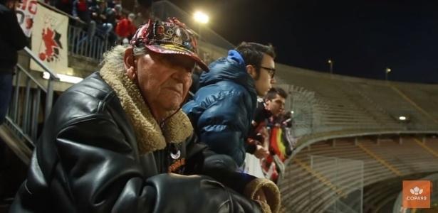 Vovô Ciccio tem 92 anos e frequenta estádios há 80