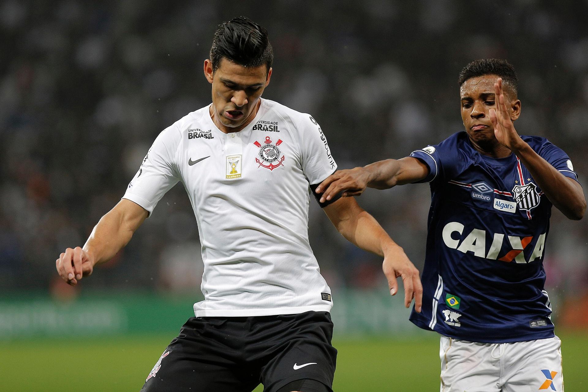 9ebbad4b513b4 Corinthians e Santos empatam na Arena com brilho de Rodrygo e gol de Roger  - 06 06 2018 - UOL Esporte