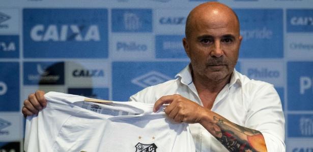 Jorge Sampaoli iniciará trabalho no Santos no Campeonato Paulista, contra a Ferroviária - Miguel Schincariol/AFP