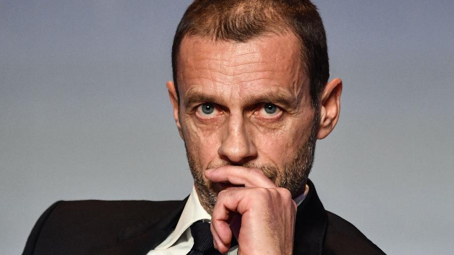 Aleksander Ceferin fez ataques fortes à dirigentes dos clubes formadores da Superliga - Andreas Solaro/AFP