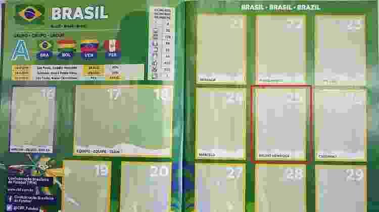 Bruno Henrique, do Palmeiras, integra o álbum da Copa América - UOL - UOL