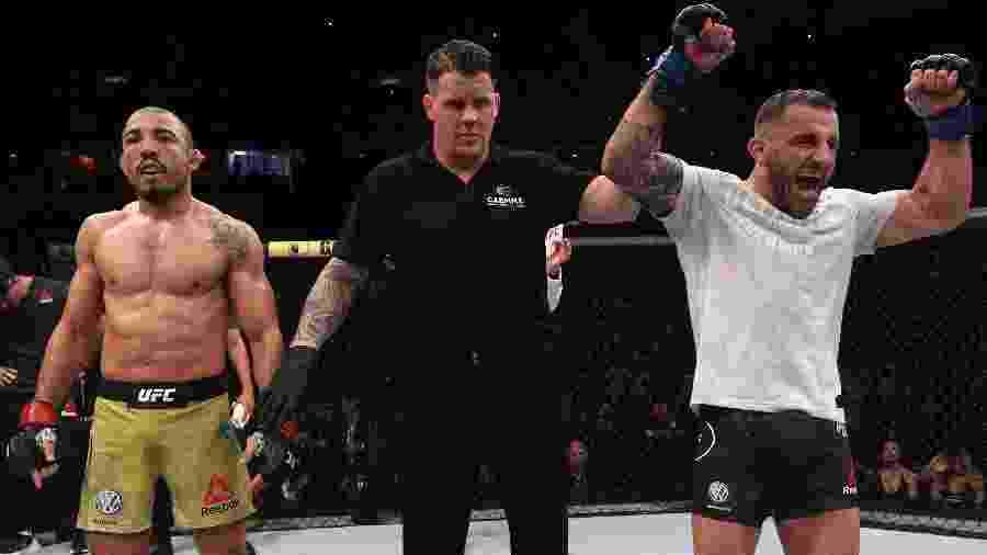 Alexander Volkanovski superou José Aldo no UFC Rio - Buda Mendes/Zuffa LLC/ Getty Images