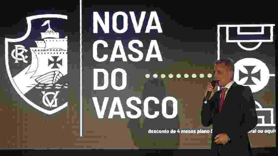 Presidente do Vasco, Alexandre Campello discursa em evento sobre projeto de construção do CT do clube - Rafael Ribeiro / Site oficial do Vasco