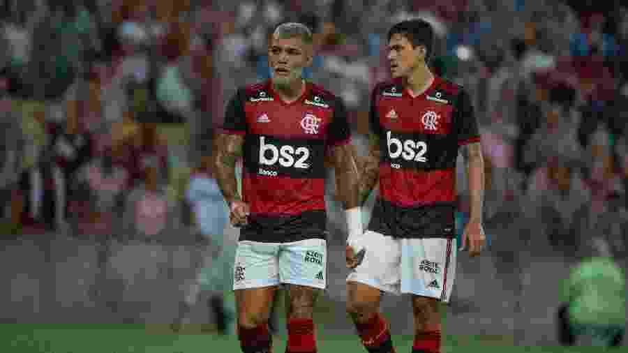 Gabigol e Pedro, atacantes do Flamengo, durante final da Taça Guanabara, contra o Boavista - Alexandre Vidal & Paula Reis / Flamengo
