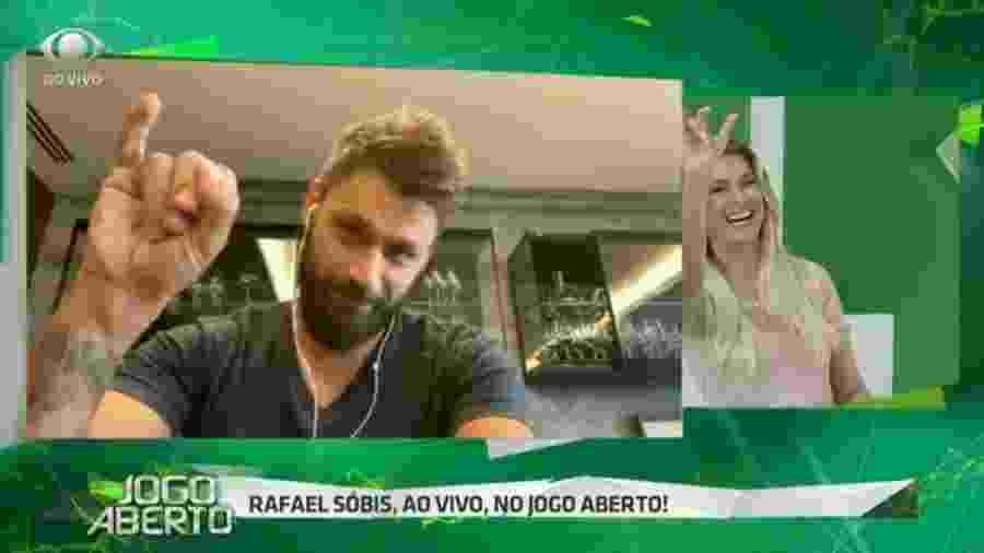 Rafael Sóbis participa do Jogo Aberto e cobra Renata Fan ao  vivo - Reprodução/Band