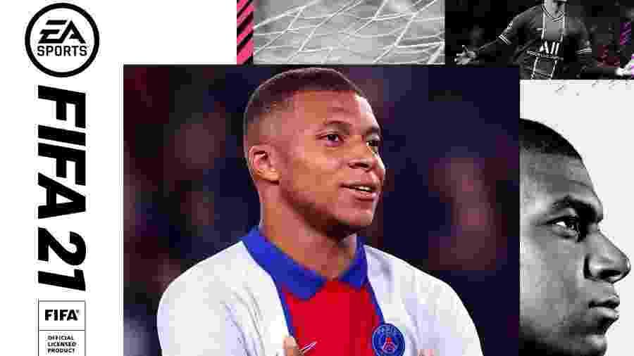 """Mbappé como capa do """"FIFA 21"""" - Reprodução/EA Sports"""