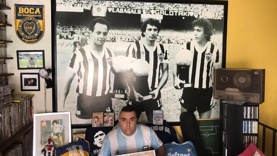 Torcedor do Atlético-MG desde a infância, Bernardo Dabés também nutre sentimento pelo Boca Juniors - Arquivo Pessoal