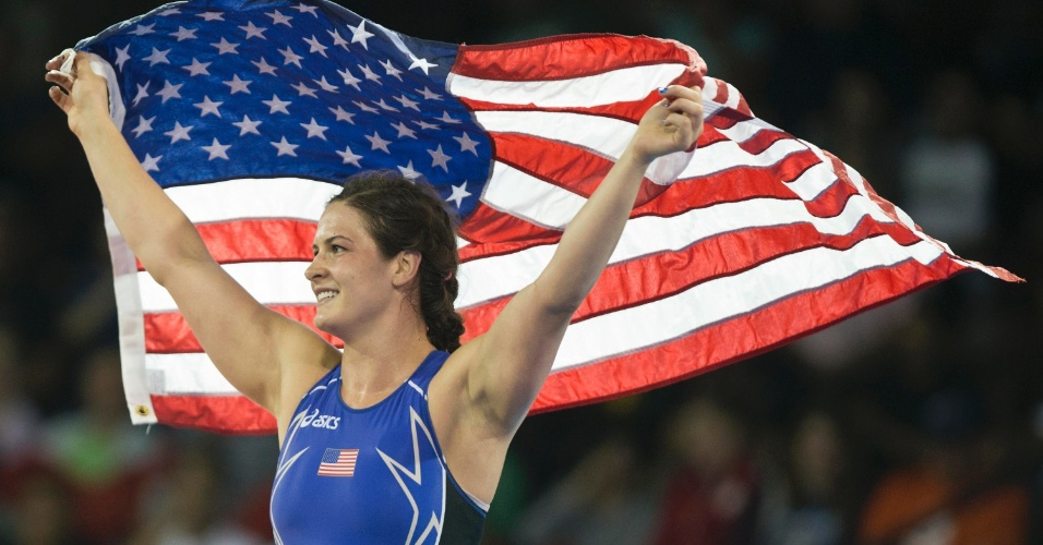 Adeline Gray, medalhista dos EUA na luta olímpica