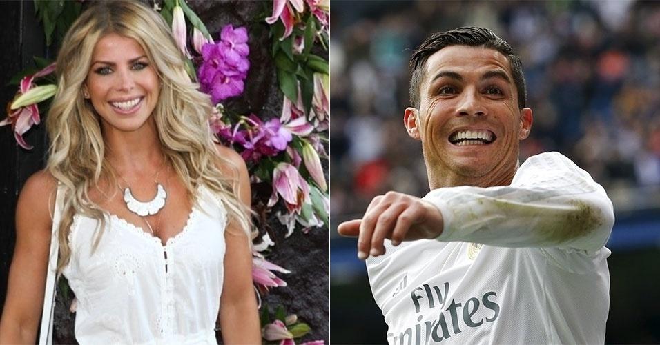 Cristiano Ronaldo e Karina Bacchi (hoje na Record)