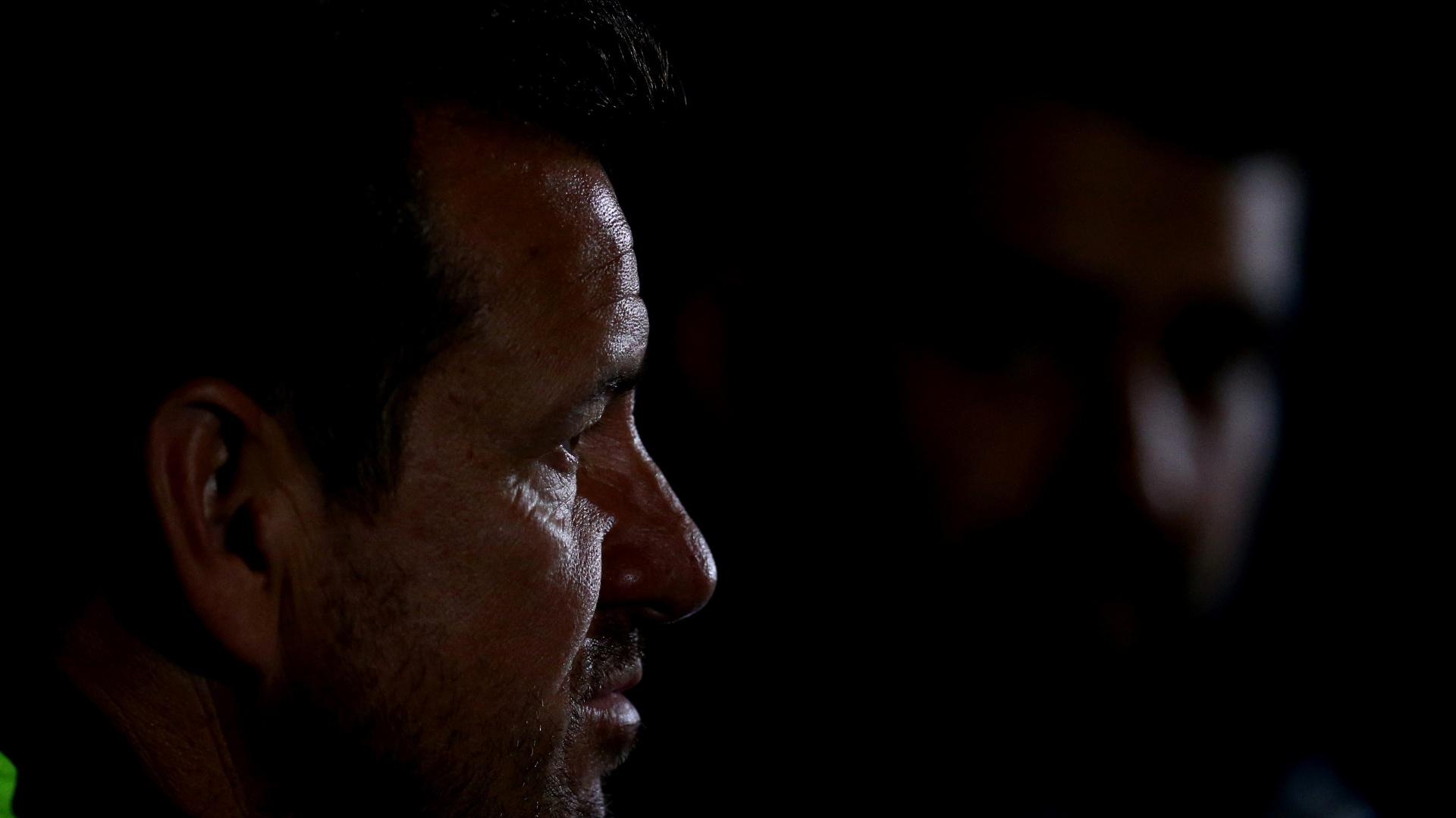 Dunga concede entrevista coletiva durante evento oficial da Copa América