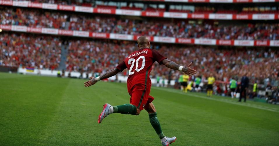 Ricardo Quaresma comemora em amistoso Portugal x Estônia em Lisboa