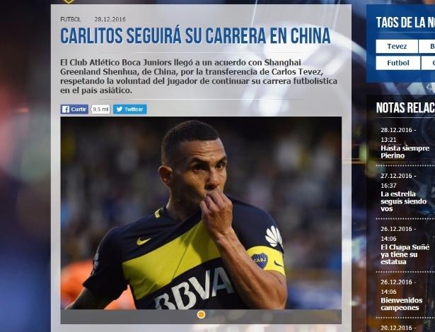 Segundo comunicado, Boca aceitou negociação 'respeitando a vontade do jogador'