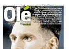 """Argentinos falam em dia negro e Olé ironiza: """"Putin Madre"""" - Reprodução/Ole"""