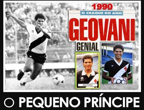 Geovani brilhou com a camisa do Vasco e ganhou o apelido de Pequeno Príncipe