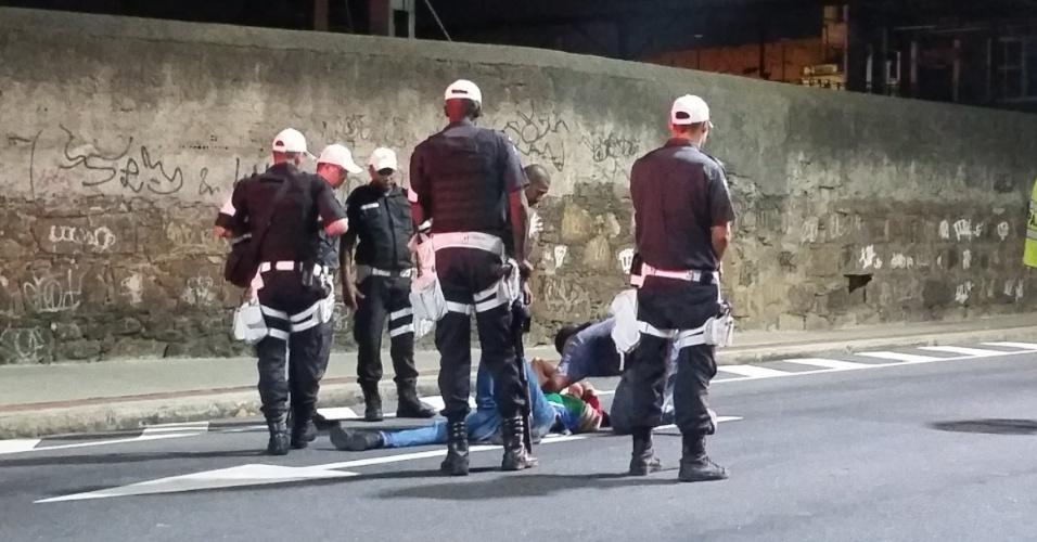 Torcedor é ferido antes da partida entre Botafogo e Atlético-MG no Engenhão