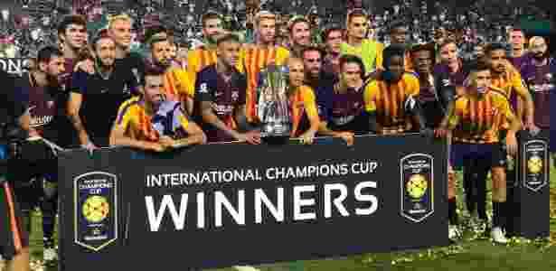 Barcelona comemora conquista da Champions Cup - Divulgação/Barcelona - Divulgação/Barcelona