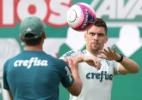 Moisés evolui, participa de treino e deve voltar antes do previsto - Cesar Greco/Ag. Palmeiras/Divulgação