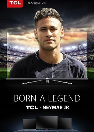 Anúncio da parceria entre Neymar e a TCL