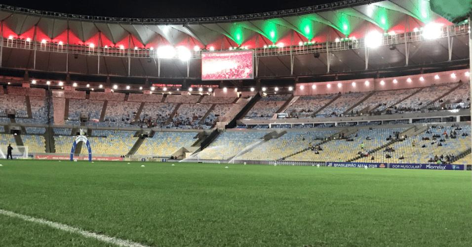 Maracanã pronto para receber Fluminense x Internacional pelo Campeonato Brasileiro