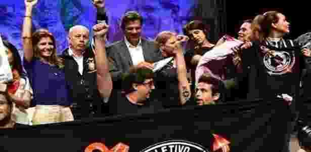 Organizadas fizeram ato de apoio a Fernando Haddad em São Paulo - Reprodução - Reprodução