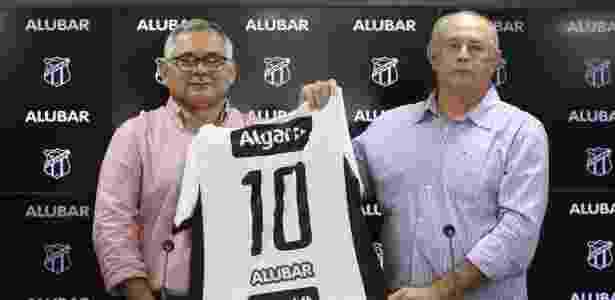 Ceará apresenta camisa com novo patrocinador, a Alubar - Mauro Jefferson/cearasc.com - Mauro Jefferson/cearasc.com