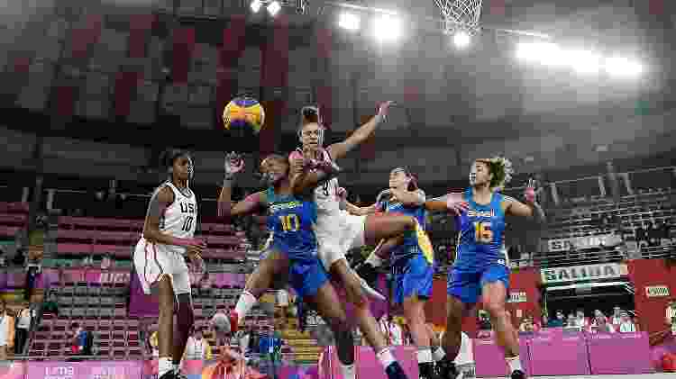 Brasileiras perderam a semifinal do 3x3 para os Estados Unidos - Alexandre Loureiro/COB